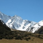 Mt Huxley at the head of the Ahuriri Valley, North Otago.