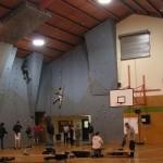 The NZAC Climbing Wall at the Waitaki Recreation Centre, Oamaru.