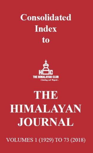 Himalayan Journal Index cover 1929-2018